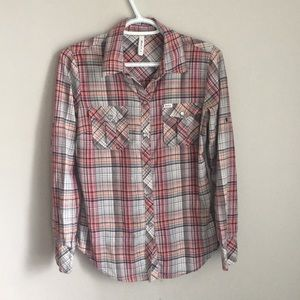 RVCA size small women's long sleeve button down